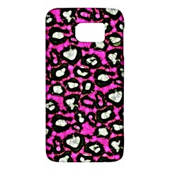 Pink Black Cheetah Abstract  Galaxy S6