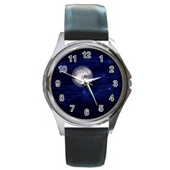 Moon And Stars Round Metal Watches