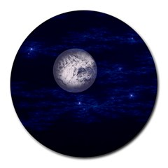 Moon and Stars Round Mousepads
