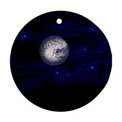Moon And Stars Ornament (round)