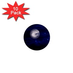 Moon And Stars 1  Mini Magnet (10 Pack)