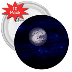Moon And Stars 3  Buttons (10 Pack)