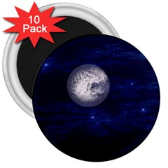 Moon and Stars 3  Magnets (10 pack)