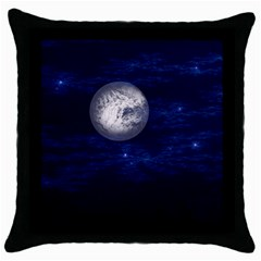Moon and Stars Throw Pillow Cases (Black)
