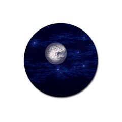 Moon And Stars Magnet 3  (round)