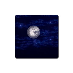 Moon And Stars Square Magnet