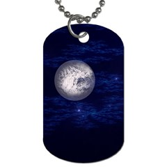 Moon and Stars Dog Tag (Two Sides)