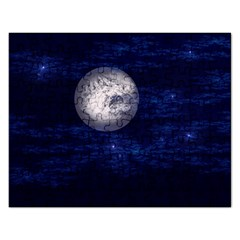 Moon and Stars Rectangular Jigsaw Puzzl
