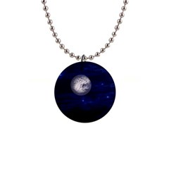 Moon and Stars Button Necklaces