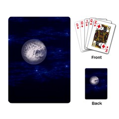Moon and Stars Playing Card