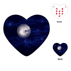 Moon And Stars Playing Cards (heart)
