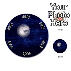 Moon and Stars Playing Cards 54 (Round)