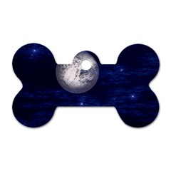 Moon And Stars Dog Tag Bone (two Sides)