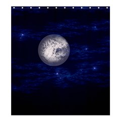 Moon and Stars Shower Curtain 66  x 72  (Large)