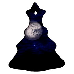 Moon and Stars Christmas Tree Ornament (2 Sides)