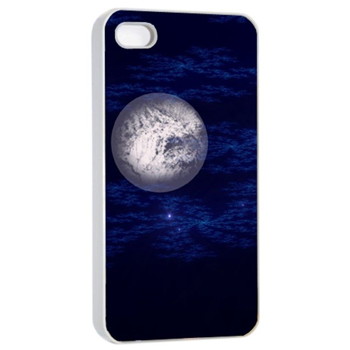 Moon and Stars Apple iPhone 4/4s Seamless Case (White)