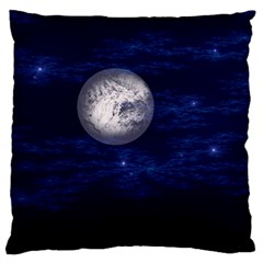 Moon And Stars Large Cushion Cases (two Sides)