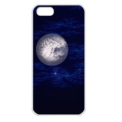Moon and Stars Apple iPhone 5 Seamless Case (White)