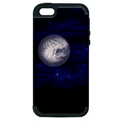 Moon and Stars Apple iPhone 5 Hardshell Case (PC+Silicone)