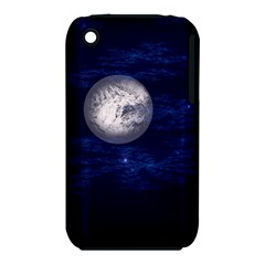Moon and Stars Apple iPhone 3G/3GS Hardshell Case (PC+Silicone)