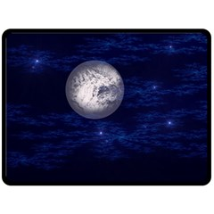 Moon And Stars Double Sided Fleece Blanket (large)