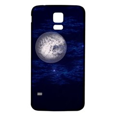 Moon and Stars Samsung Galaxy S5 Back Case (White)