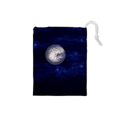 Moon And Stars Drawstring Pouches (small)