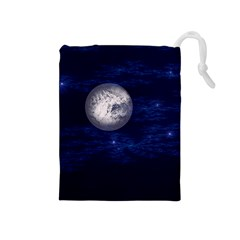 Moon And Stars Drawstring Pouches (medium)