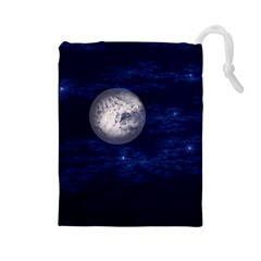 Moon and Stars Drawstring Pouches (Large)
