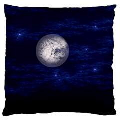 Moon And Stars Standard Flano Cushion Cases (one Side)