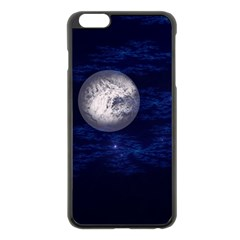 Moon And Stars Apple Iphone 6 Plus Black Enamel Case