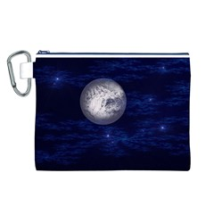 Moon And Stars Canvas Cosmetic Bag (l)