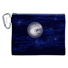 Moon and Stars Canvas Cosmetic Bag (XXL)