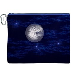 Moon And Stars Canvas Cosmetic Bag (xxxl)