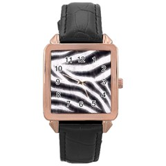 Black&white Zebra Abstract Pattern  Rose Gold Watches