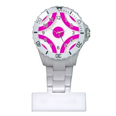 Pink White abstract unique patterns  Nurses Watches