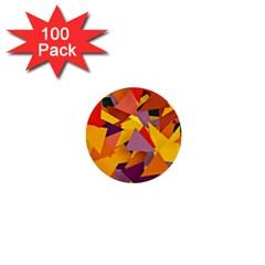 Geo Fun 8 Colorful 1  Mini Buttons (100 Pack)