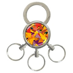 Geo Fun 8 Colorful 3-Ring Key Chains