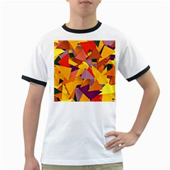 Geo Fun 8 Colorful Ringer T Shirts