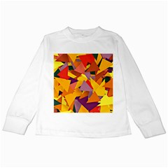 Geo Fun 8 Colorful Kids Long Sleeve T Shirts