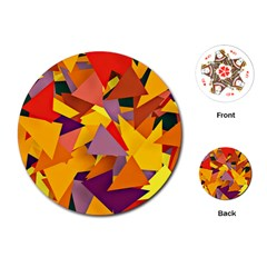Geo Fun 8 Colorful Playing Cards (round)