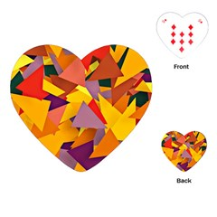 Geo Fun 8 Colorful Playing Cards (Heart)