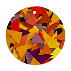 Geo Fun 8 Colorful Round Ornament (two Sides)