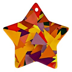 Geo Fun 8 Colorful Star Ornament (two Sides)