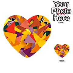 Geo Fun 8 Colorful Playing Cards 54 (Heart)