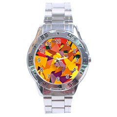 Geo Fun 8 Colorful Stainless Steel Men s Watch