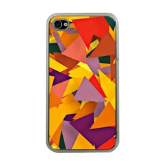 Geo Fun 8 Colorful Apple iPhone 4 Case (Clear)