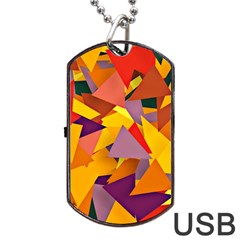 Geo Fun 8 Colorful Dog Tag USB Flash (One Side)