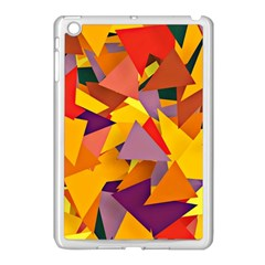 Geo Fun 8 Colorful Apple iPad Mini Case (White)