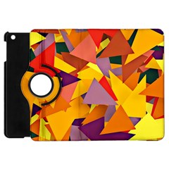 Geo Fun 8 Colorful Apple iPad Mini Flip 360 Case